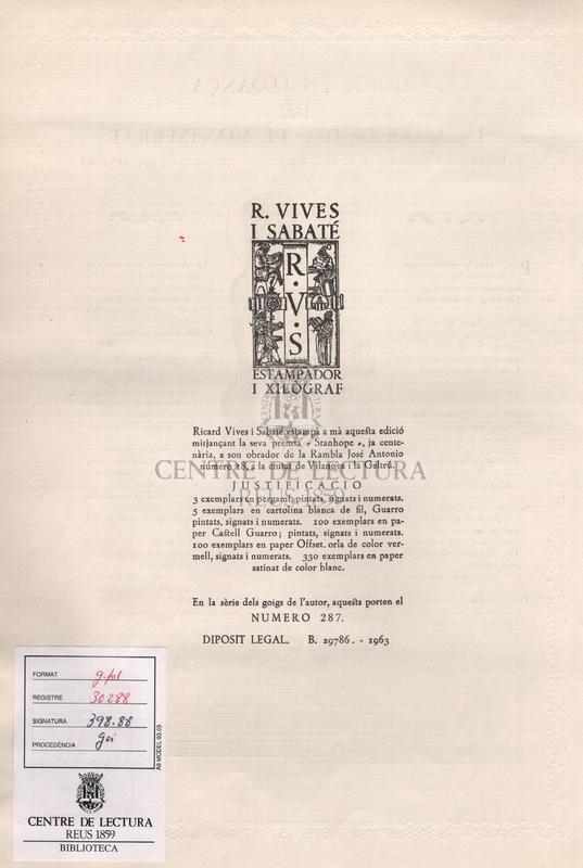 Goigs en lloança de la Mare de Deu de Montserrat venerada a la basilica de Santa Maria de Vilafranca del Penedes.