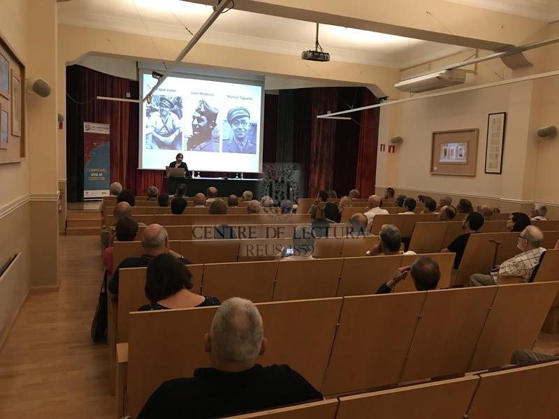 """Conferència: """"Reus i la batalla de l'Ebre"""", a càrrec de Joan Navais. Acte per commemorar el 80è aniversari de la batalla de l'Ebre (1938), presentació de l'acte Joaquim Besora"""