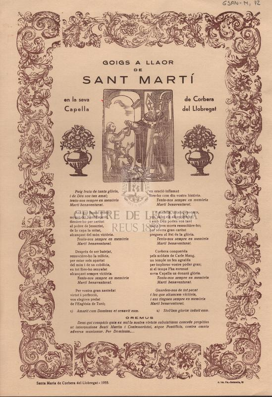 Goigs a llaor de Sant Martí en la seva Capella de Corbera de Llobregat