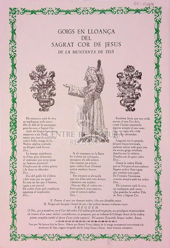 Goigs del Sagrat Cor de Jesús de la Muntanya de Teià