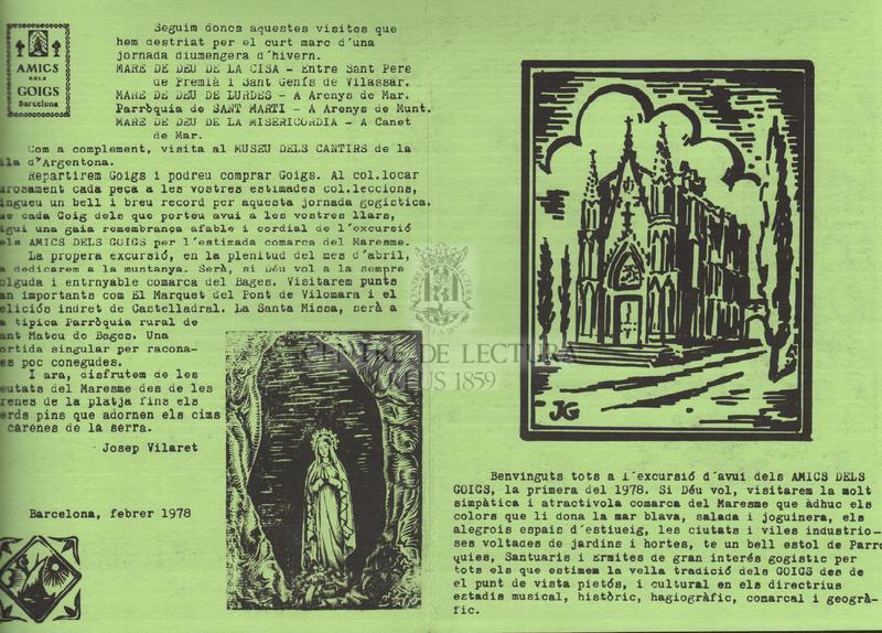 Goigs a llaor de la Mare de Déu de la Cisa, Bisbat de Barcelona