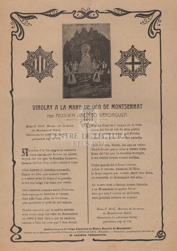 Virolay a la Mare de Deú de Montserrat per mossen Jacinto Verdaguer