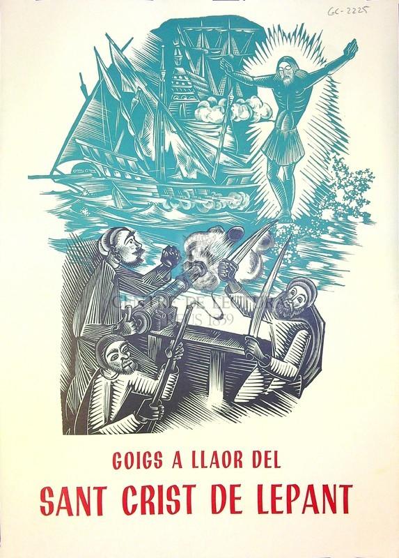 Goigs al Sant Crist de la galera de Lepant que es venera a la catedral de Barcelona