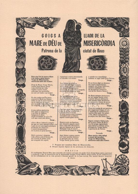 """Petita edició de tres goigs reusencs, dedicada als """"Amics dels Goigs"""", de Barcelona, pels seus consocis de la capital del Baix Camp, en ocasió dels actes que s'hi han celebrat com a continuació dels que van succeïnt-se, arreu de Catalunya, commemorant el cinquantè aniversari de la Fundació de l'entitat."""