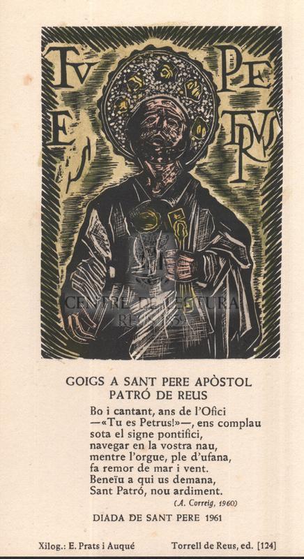 Goigs a Sant Pere Apòstol, patró de Reus