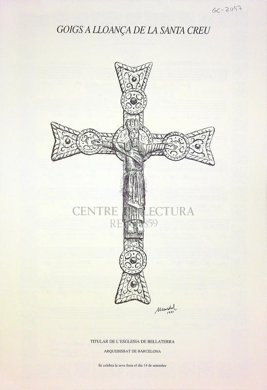 Goigs a lloança de la Santa Creu titular de l'església de Bellaterra arquebisbat de Barcelona