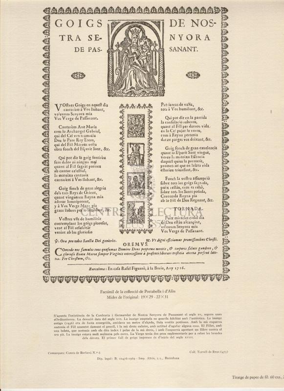 Goigs de Nostra Senyora de Passanant