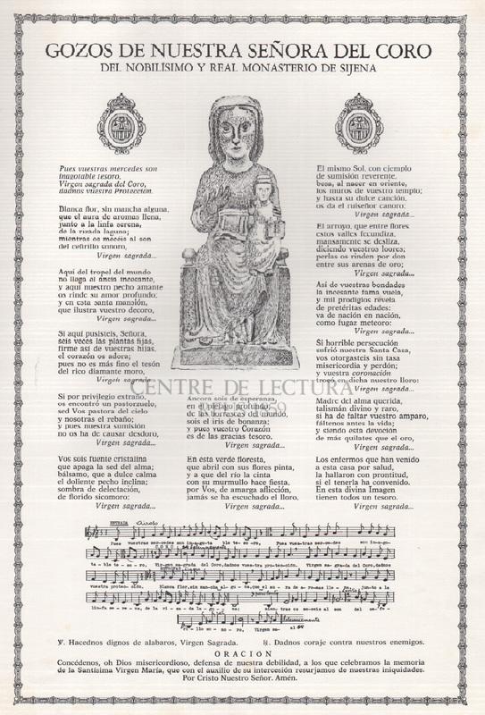 Gozos de Nuestra Señora del Coro del Nobílisimo y Real Monasterio de Sijena