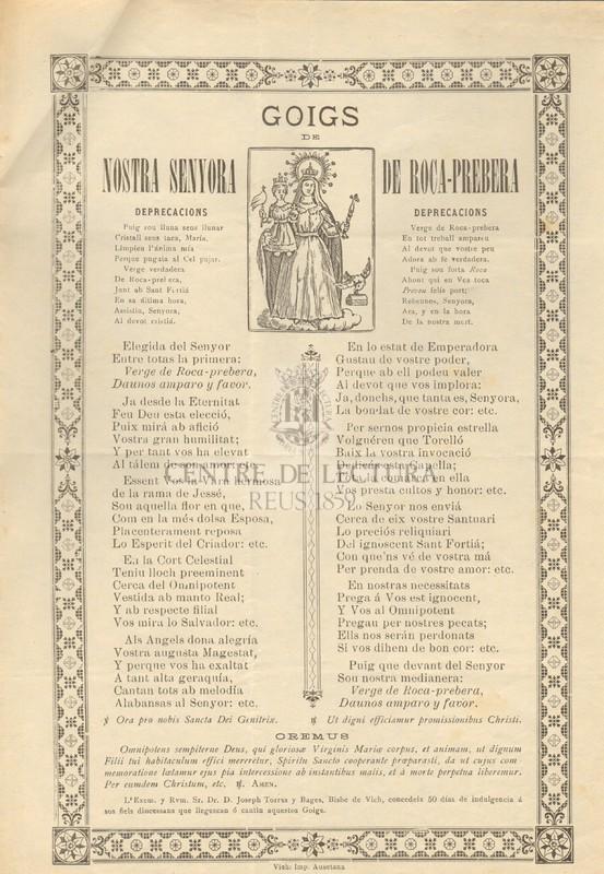 Goigs de Nostra Senyora de Roca-Prebera