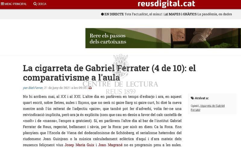 La cigarreta de Gabriel Ferrater (4 de 10): el comparativisme a l'aula