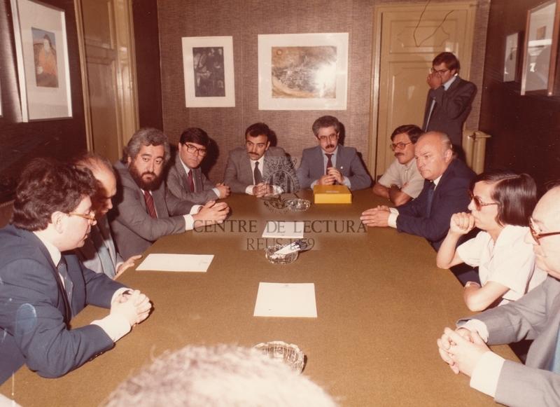 Visita de Jordi Pujol, President de la Generalitat,  al Centre de Lectura