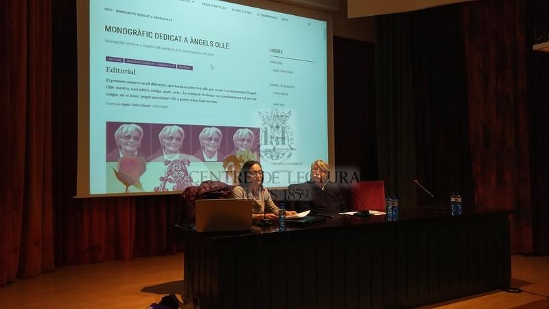 Presentació del nou monogràfic de la Revista del Centre de Lectura, dedicat a l'escriptora i pedagoga Àngels Ollé