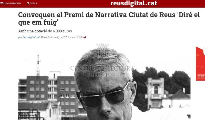 Convoquen el Premi de Narrativa Ciutat de Reus 'Diré el que em fuig'