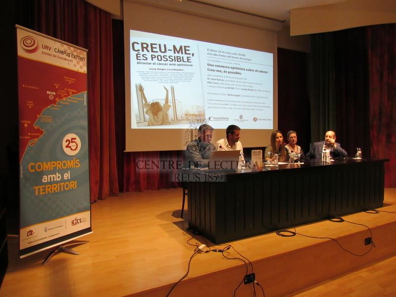 Presentació del llibre: Creu-me, és possible. Una conversa optimista sobre el càncer, de Josep Baiges