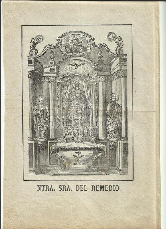 Gozos de Nuestra Señora del Remedio que se cantan en su capila contigua á la villa de Caldes de Monbuy