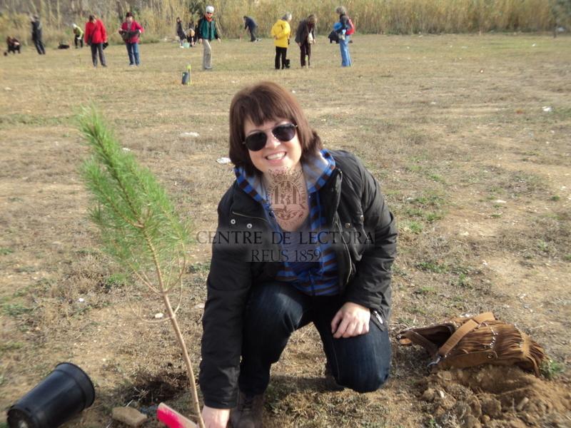 Plantada d'arbres en homenatge a Albert Via<br /><br />