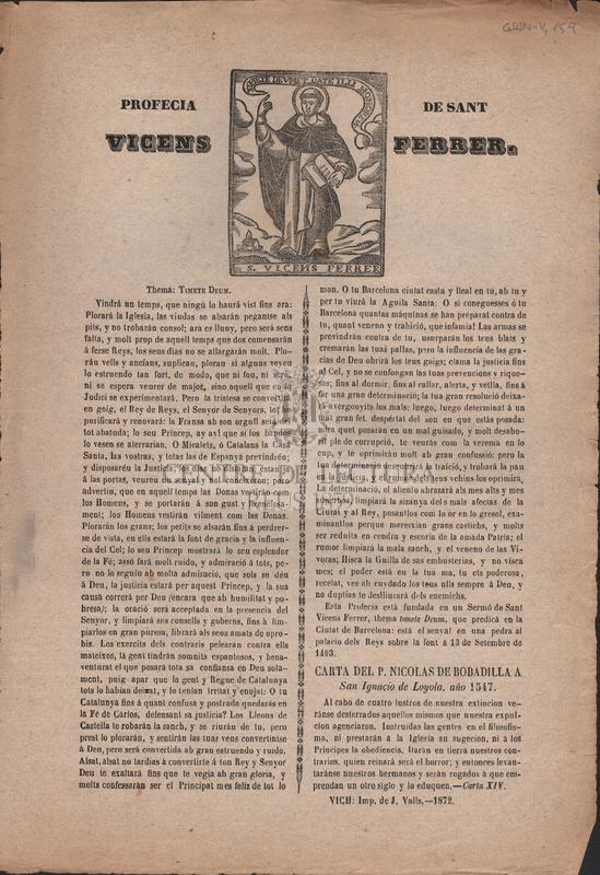 Profecia de Sant Vicens Ferrer.