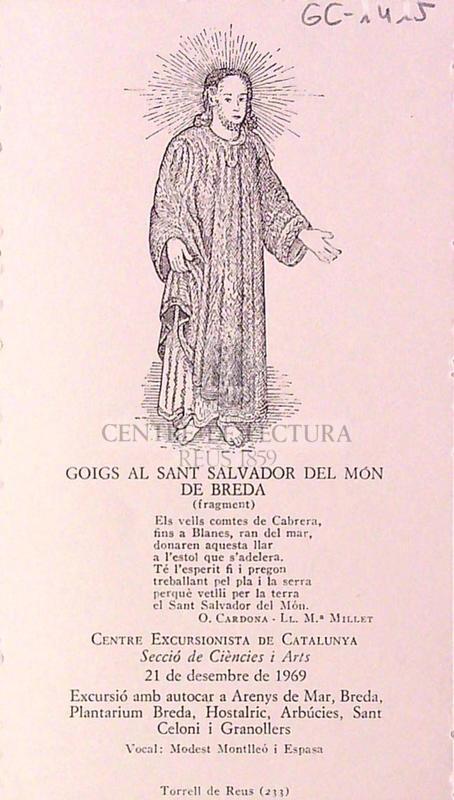 Goigs al Sant Salvador del món de Breda (fragment)