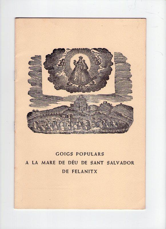 Goigs populars a la Mare de Déu de Sant Salvador de Felanitx