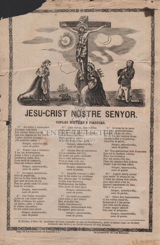 Jesu-crist nostre Senyor. Coplas místicas y piadosas