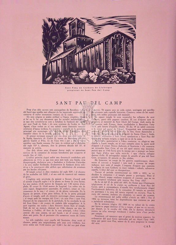 Goigs al gloriós Sant Pau Apòstol tal com es canten a l'esglesia parroquial de Sant Pau del Camp, de la ciutat de Barcelona