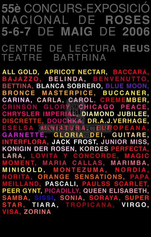 55è Concurs-Exposició Nacional de Roses, 5-6-7 de maig de 2006, Centre de Lectura, Reus, Teatre Bartrina
