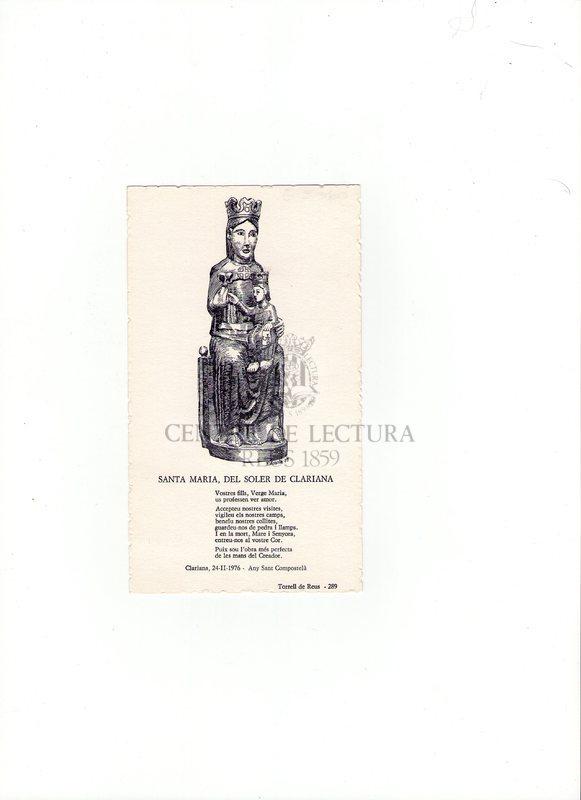 Santa Maria, del Soler de Clariana