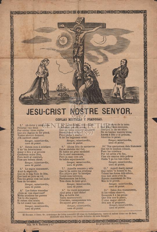 Jesu-crist nostre senyor. Coplas Misticas y piadosas