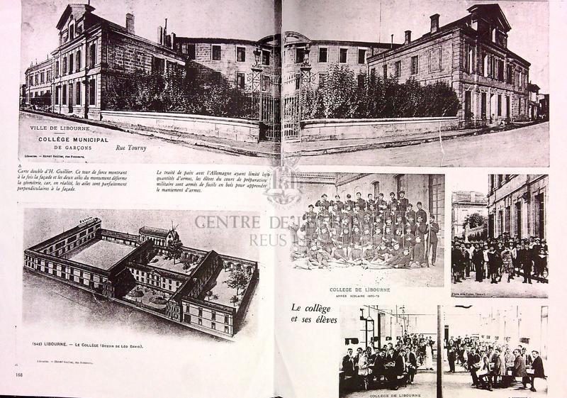 Fotocòpies d'un document sobre el Collège Municipal de Garçons de Libourne