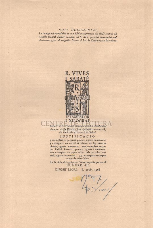 Goigs en lloança del gloriós martir sant Cristofol venerat a la seva ermita de Vilanova i la Geltrú