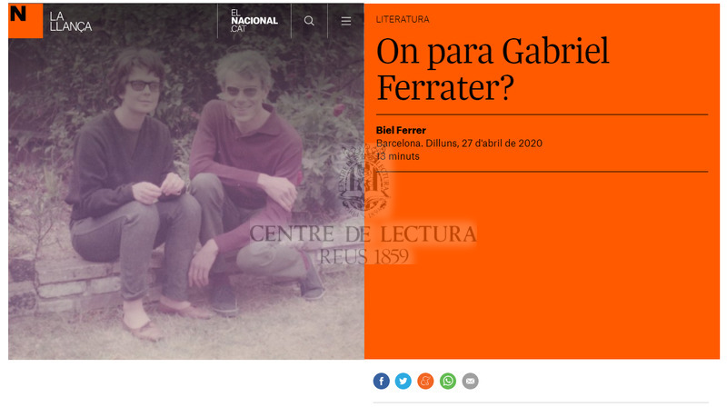 On para Gabriel Ferrater?