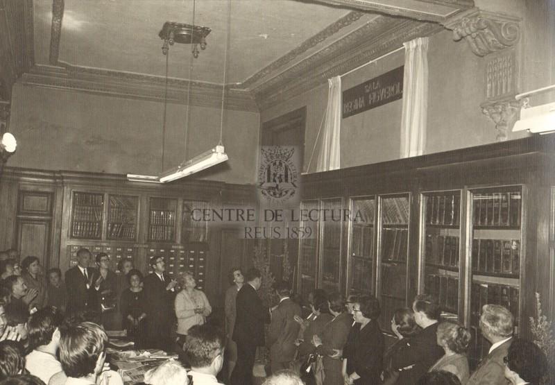 Inauguració de la sala Regina Figuerola de la Biblioteca
