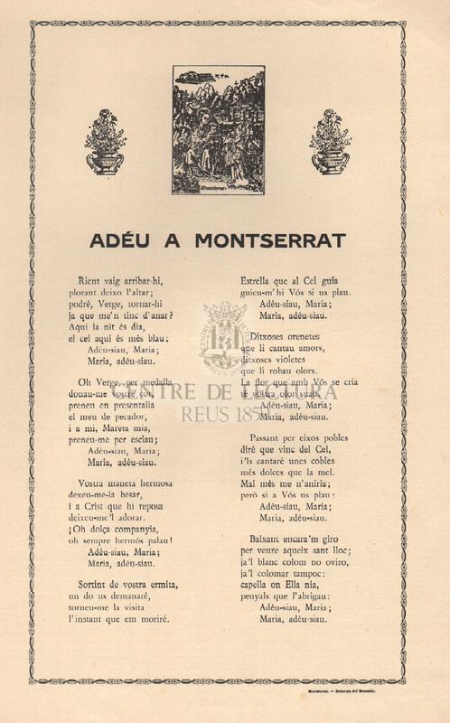 Adéu Montserrat