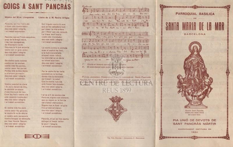 Goigs a Sant Pancràs
