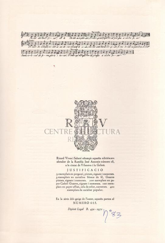 Goigs a llaor del glorios bisbe Sant Ermengol, excels patró del Bisbat d'Urgell