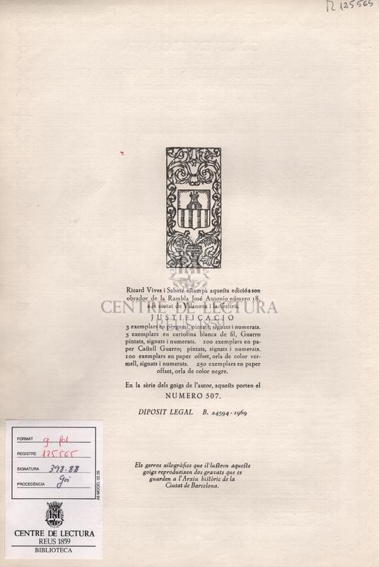 Goigs en lloança de la Mare de Deu de Montserrat venreda en l'antiga ermita de la Mare de Deu de Bastanist, a Martinet - Bisbat d'Urgell.