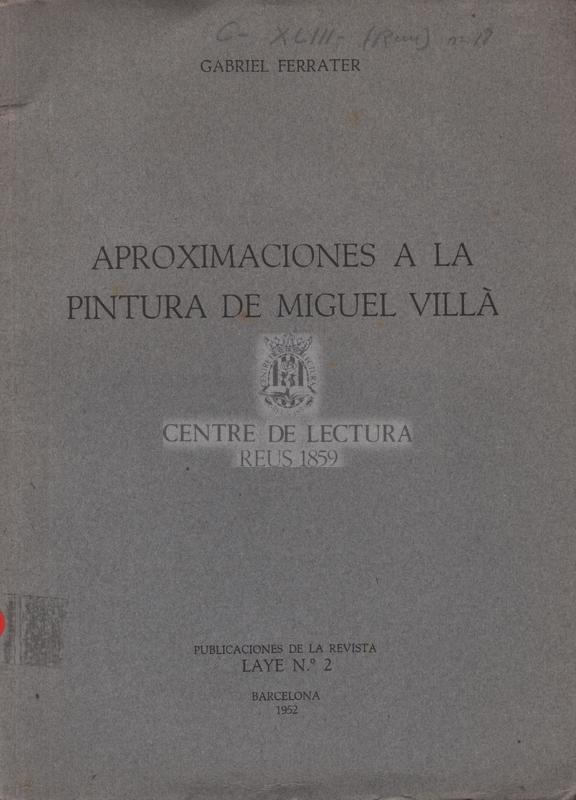 Aproximaciones a la pintura de Miguel Villà