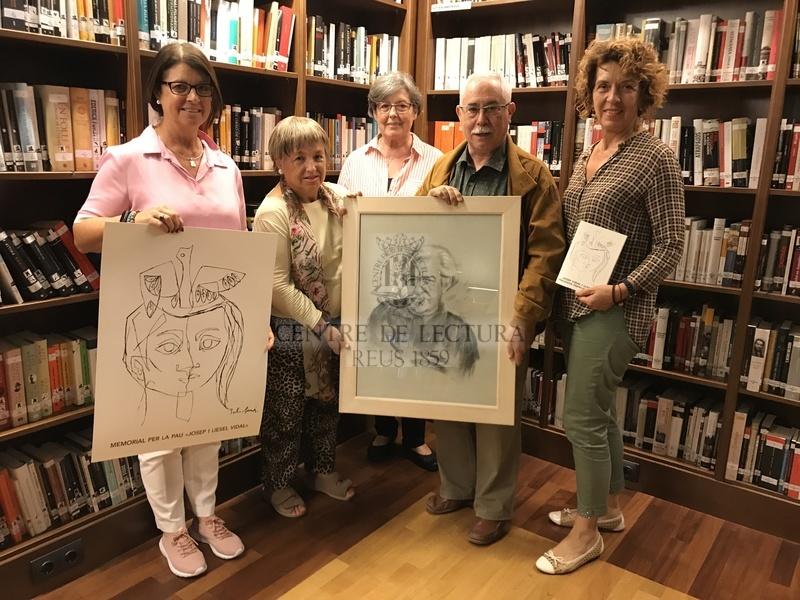 Donació d'un retrat de Josep Vidal Llecha al Centre de Lectura