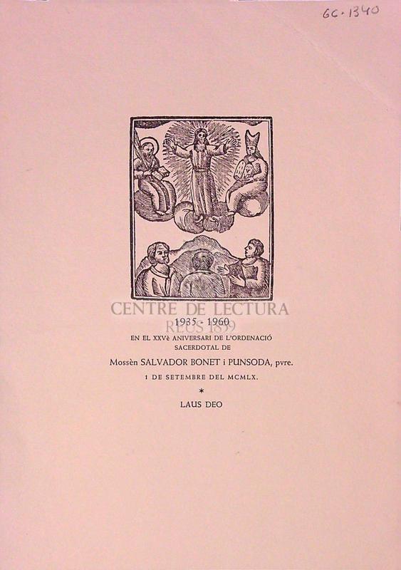 Goigs de Sant Salvador, Parròquia de Brics. Bisbat de Solsona [fragment]