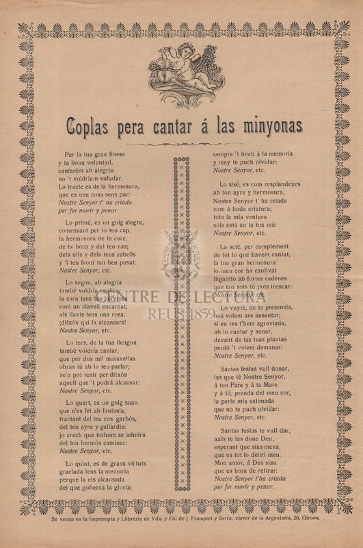Coplas pera cantará las minyonas