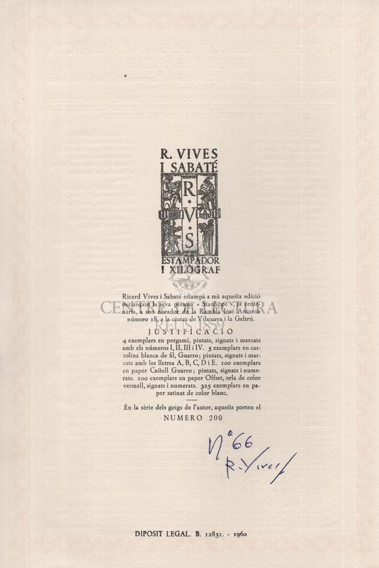Goigs en llaor de santa Llucia verge i martir, Patrona de la reveranda i secular Comunitat de Preveres de la Basílica de Santa Maria de Vilafranca del Penedés