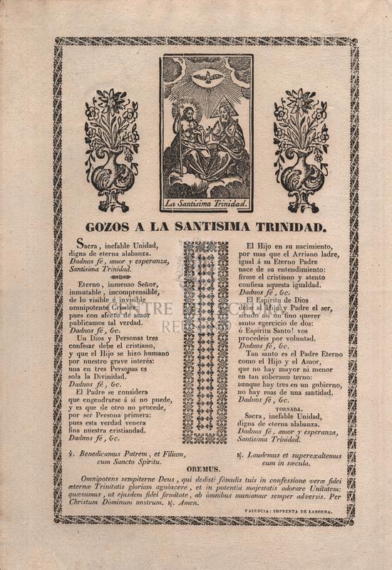 Gozos a la Santíssima Trinidad