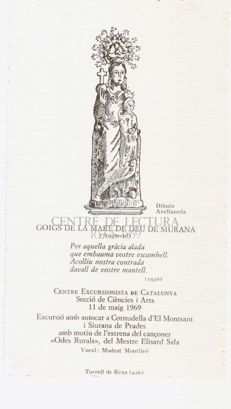 Goigs de la Mare de Déu de Siurana (fragment)