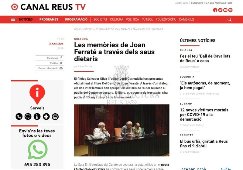 Les memòries de Joan Ferraté a través dels seus dietaris