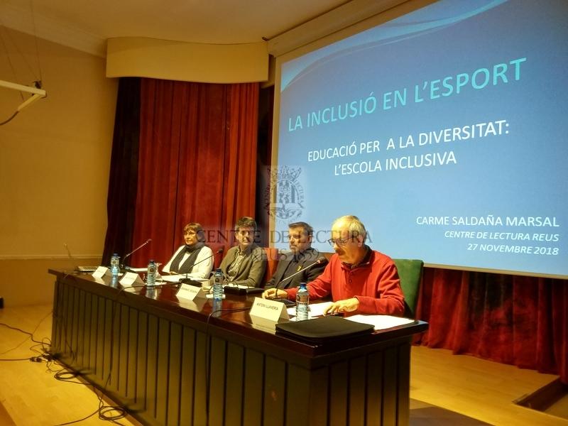 """Conferència """"La inclusió en l'esport"""", a càrrec de Carme Saldaña i Jaume Descarrega"""