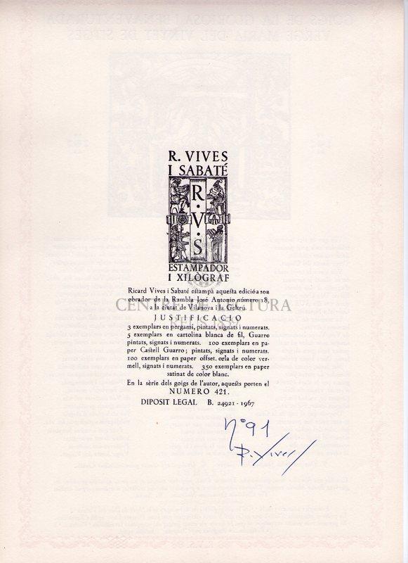 Goigs de la gloriosa i benaventurada Verge Maria del Vinyet de Sitges