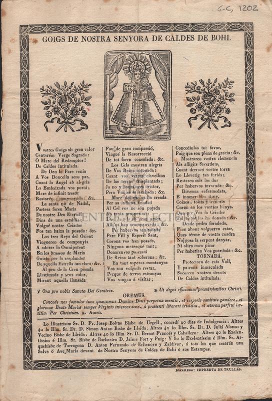 Goigs de Nostra Senyora de Caldes de Bohí