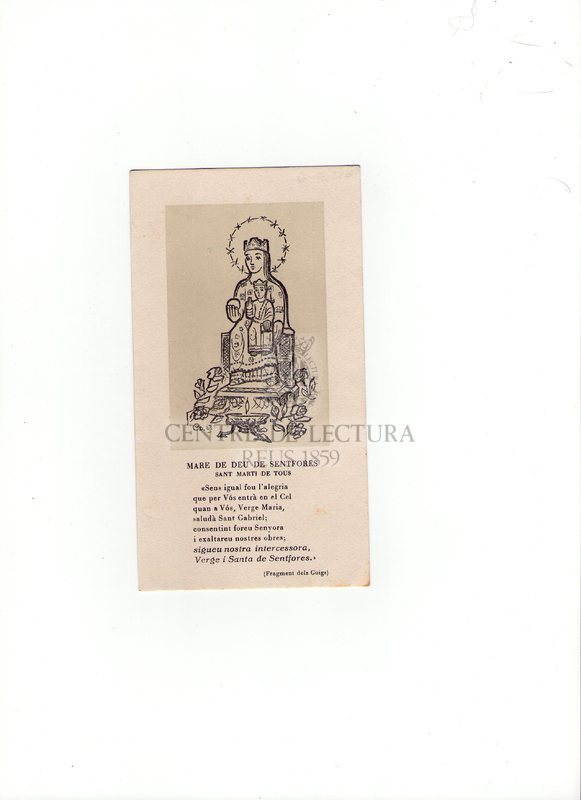 Mare de Déu de Sentfores. Sant Martí de Tous