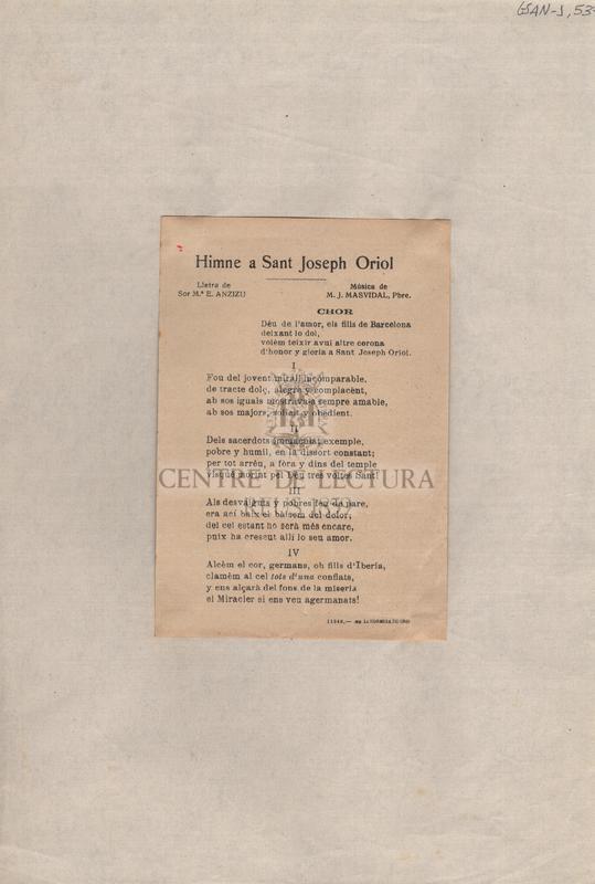 Himne a Sant Joseph Oriol