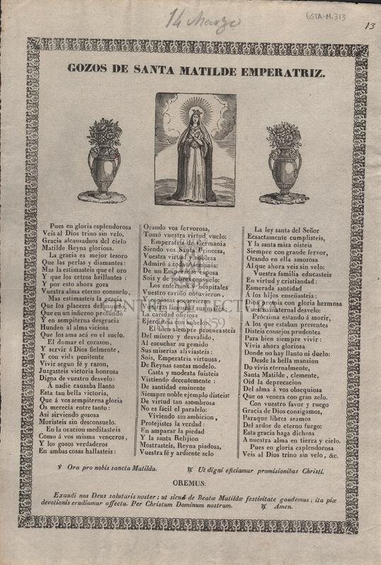 Gozos de Santa Matilde emperatriz
